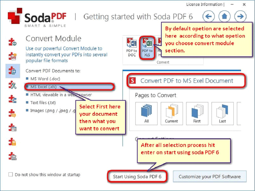convert excel to pdf soda
