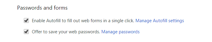 Password and form